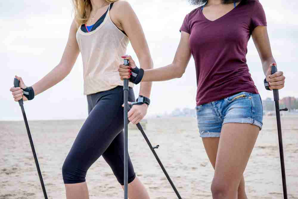 Nordic walking, hiking and walking